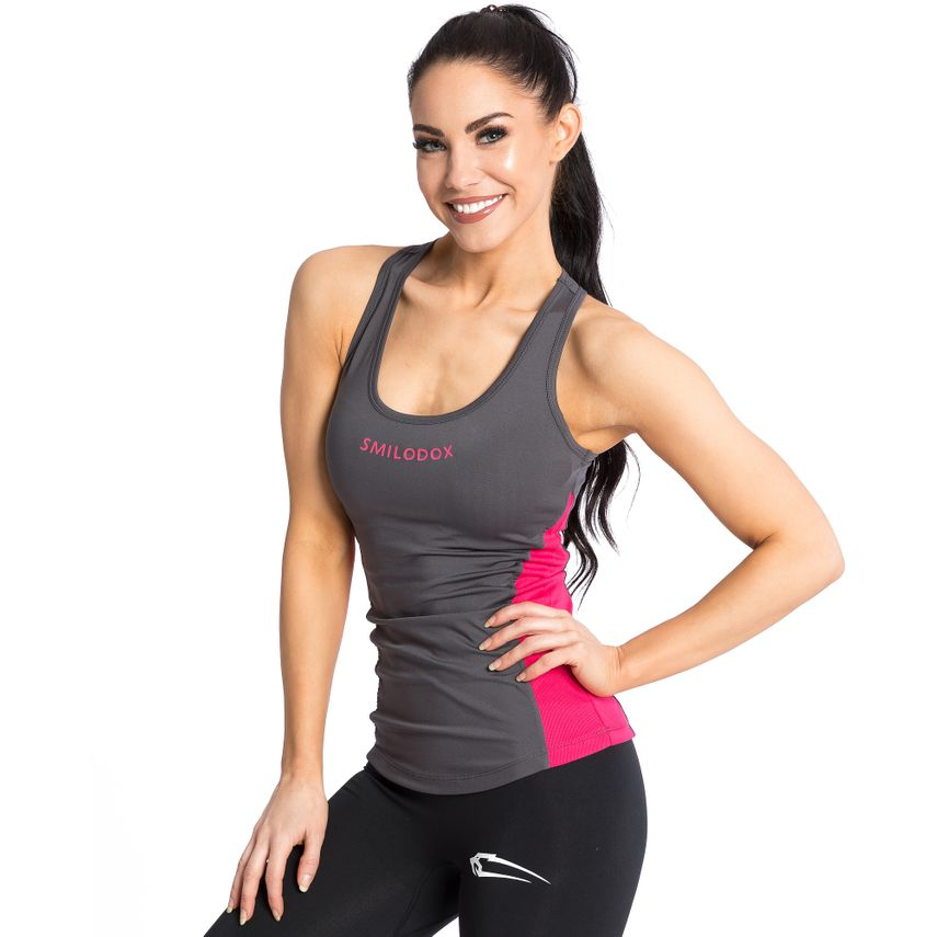 SMILODOX Top Damen Sport Fitness Gym Freizeit Top Sportshirt Trainingstop – Bild 3