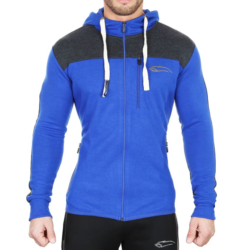 SMILODOX  Zip Hoodie Men Sports Fitness  Gym Leisure Sweaters Hooded Sweaters – Bild 1