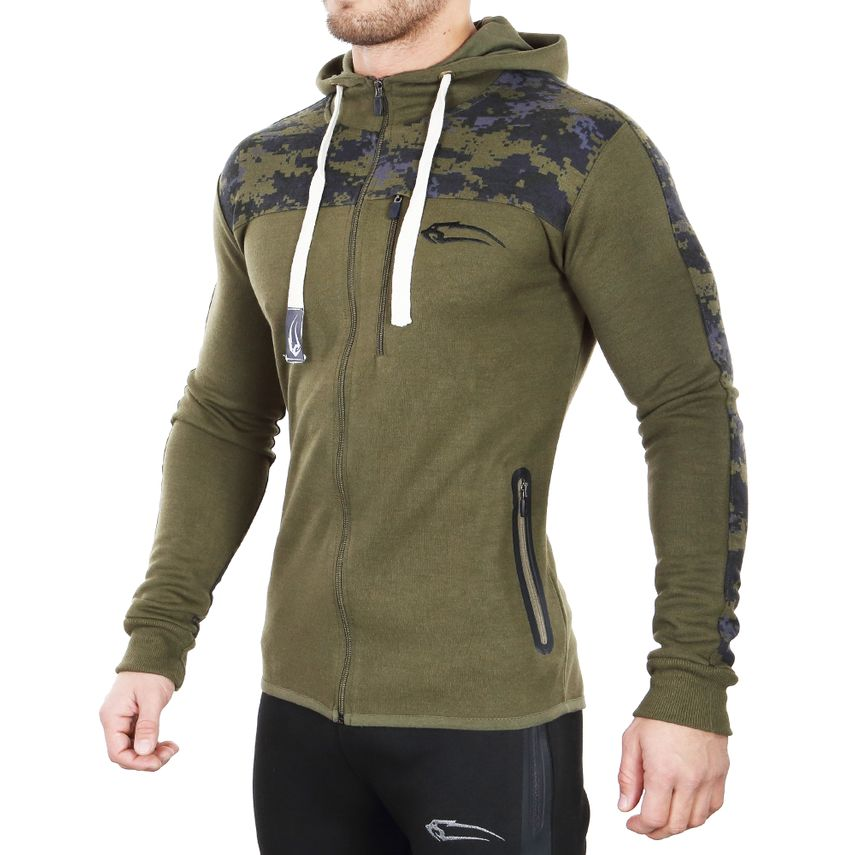 SMILODOX  Zip Hoodie Men Sports Fitness  Gym Leisure Sweaters Hooded Sweaters – Bild 3