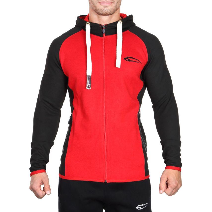 SMILODOX Zip Hoodie Herren Sport Fitness Gym Freizeit Pullover Kapuzenpullover – Bild 5