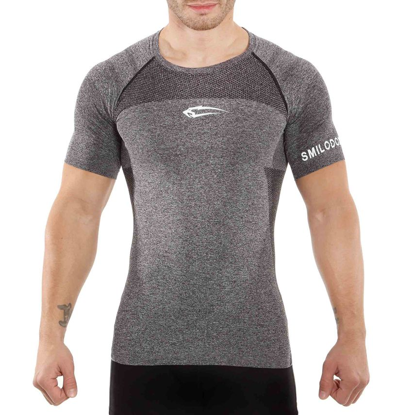 SMILODOX T-Shirt Men Sports Fitness  Gym Leisure Training Shirt Sportshirt – Bild 1