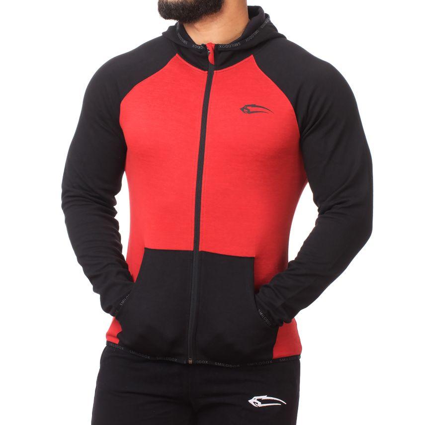 SMILODOX  Zip Hoodie Men Sports Fitness  Gym Leisure Sweaters Hooded Sweaters – Bild 2