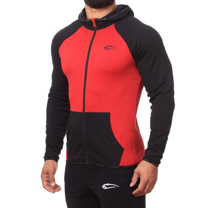 SMILODOX Zip Hoodie Herren Sport Fitness Gym Freizeit Pullover Kapuzenpullover – Bild 3
