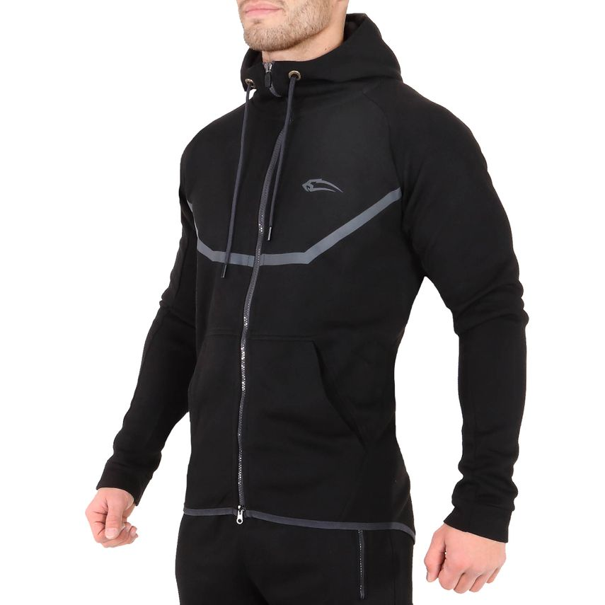 SMILODOX Zip Hoodie Herren Sport Fitness Gym Freizeit Pullover Kapuzenpullover – Bild 6