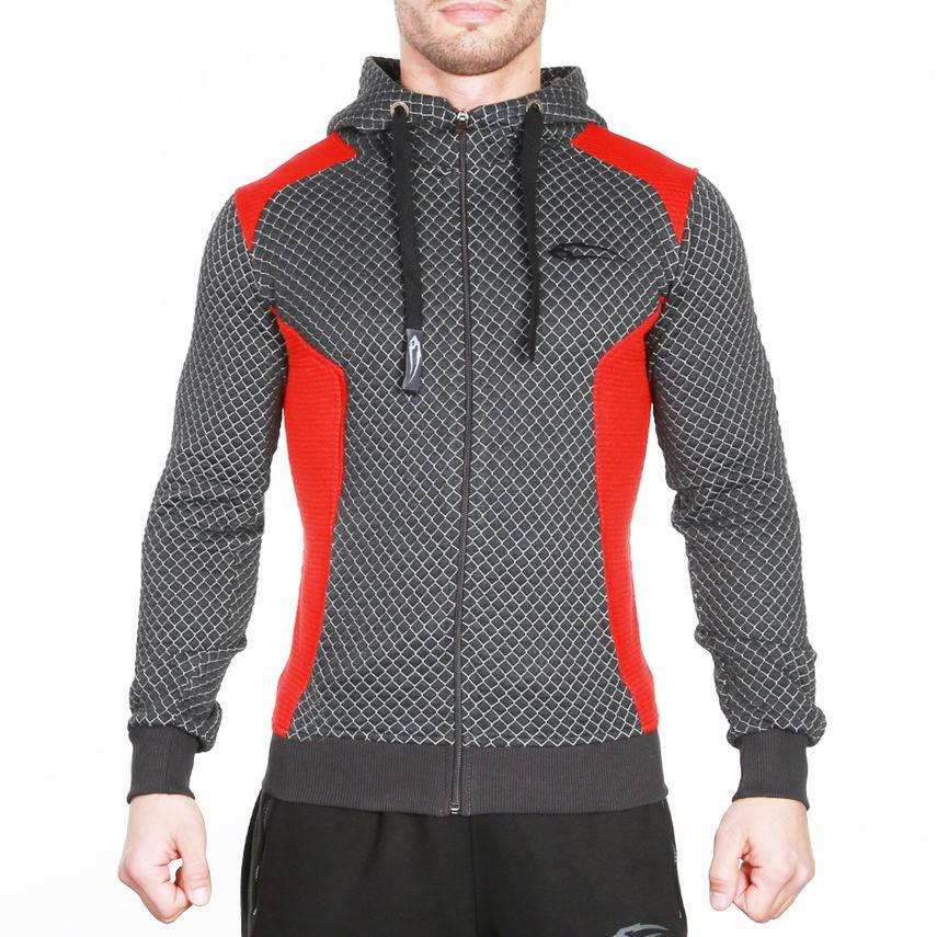 SMILODOX Zip Hoodie Herren Sport Fitness Gym Freizeit Pullover Kapuzenpullover – Bild 4