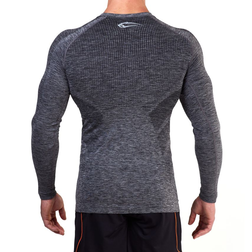 SMILODOX Slim Fit Longsleeve Herren Sport Fitness Gym Training Langarmshirt – Bild 3