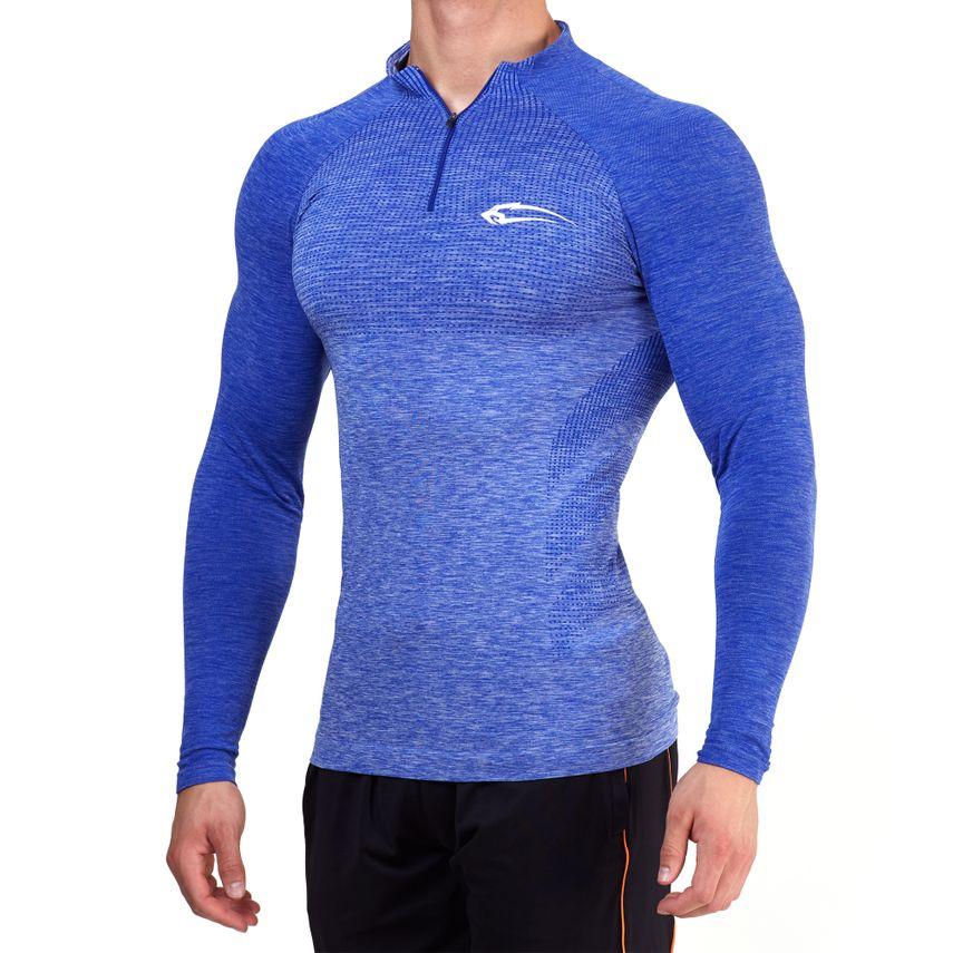 SMILODOX Slim Fit Longsleeve Herren Sport Fitness Gym Training Langarmshirt – Bild 4
