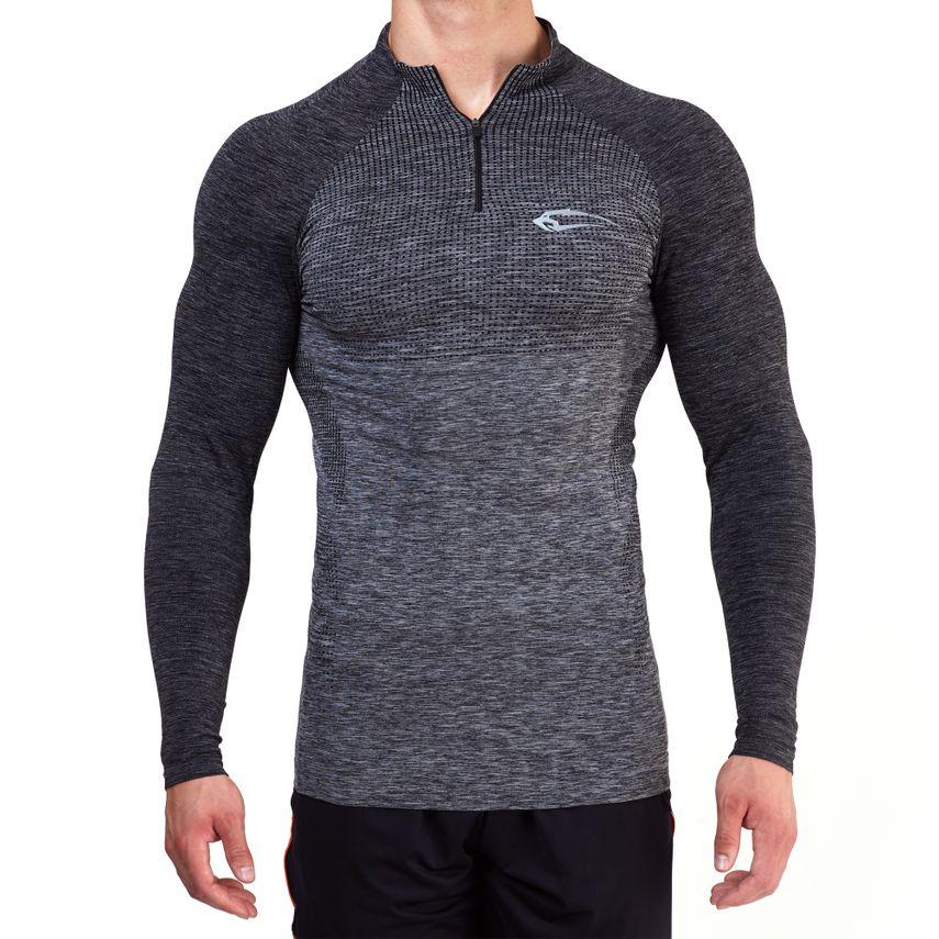 SMILODOX Slim Fit Longsleeve Herren Sport Fitness Gym Training Langarmshirt – Bild 2