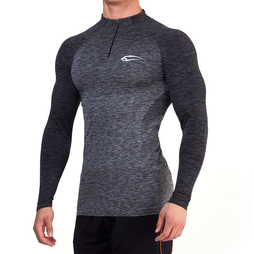 SMILODOX Slim Fit Longsleeve Herren Sport Fitness Gym Training Langarmshirt – Bild 1
