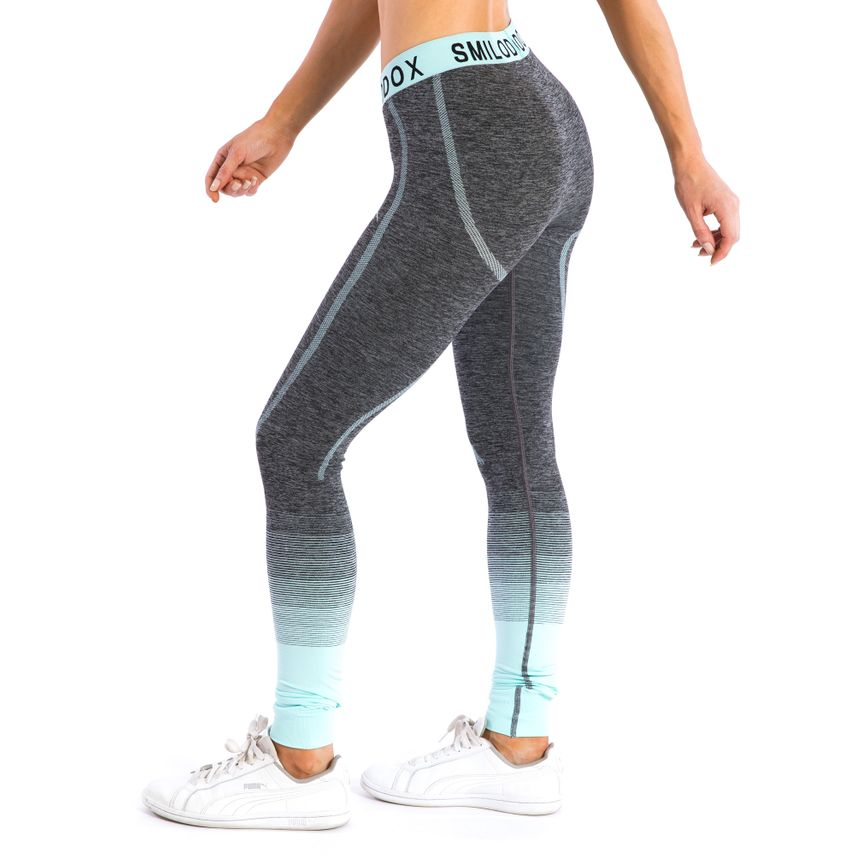23ee34cdc4 SMILODOX Leggings Ladies Sports Fitness Gym Leisure Yoga Training Stretch  Tight – Bild 19