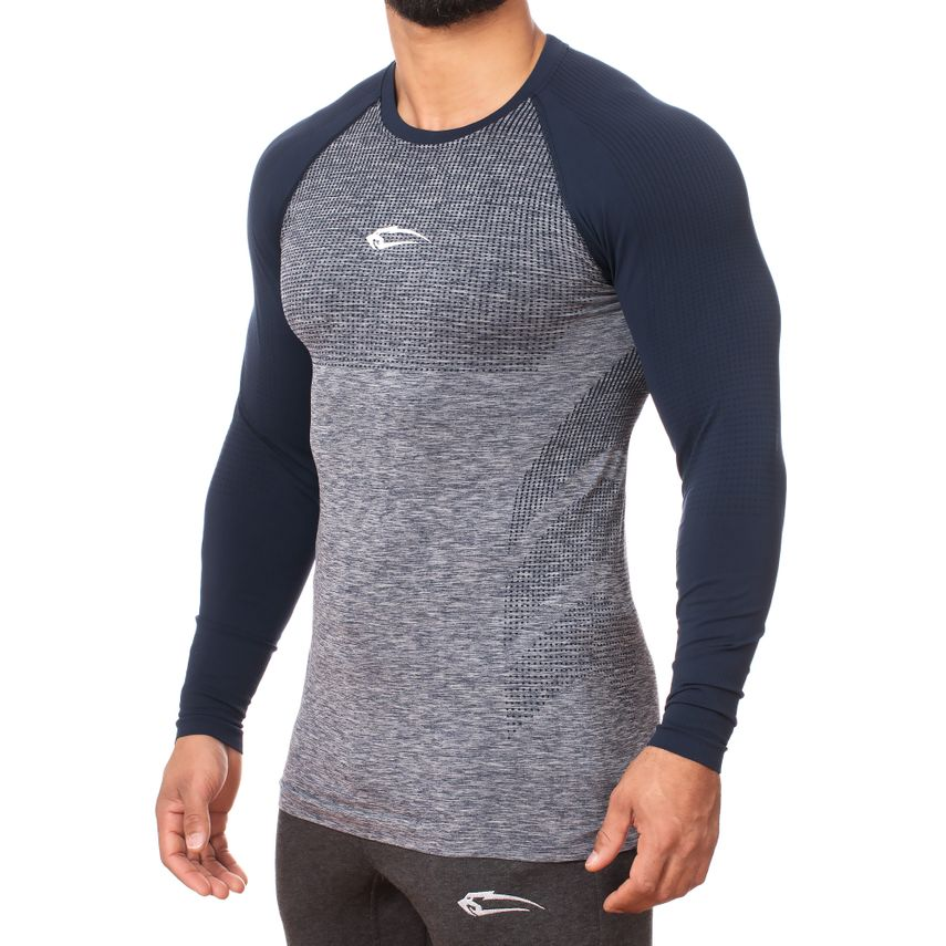 SMILODOX Slim Fit Longsleeve Herren Sport Fitness Gym Training Langarmshirt – Bild 7