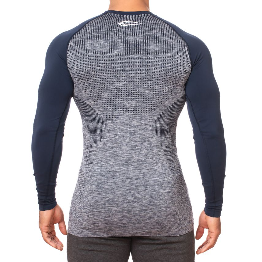 SMILODOX Slim Fit Longsleeve Herren Sport Fitness Gym Training Langarmshirt – Bild 8