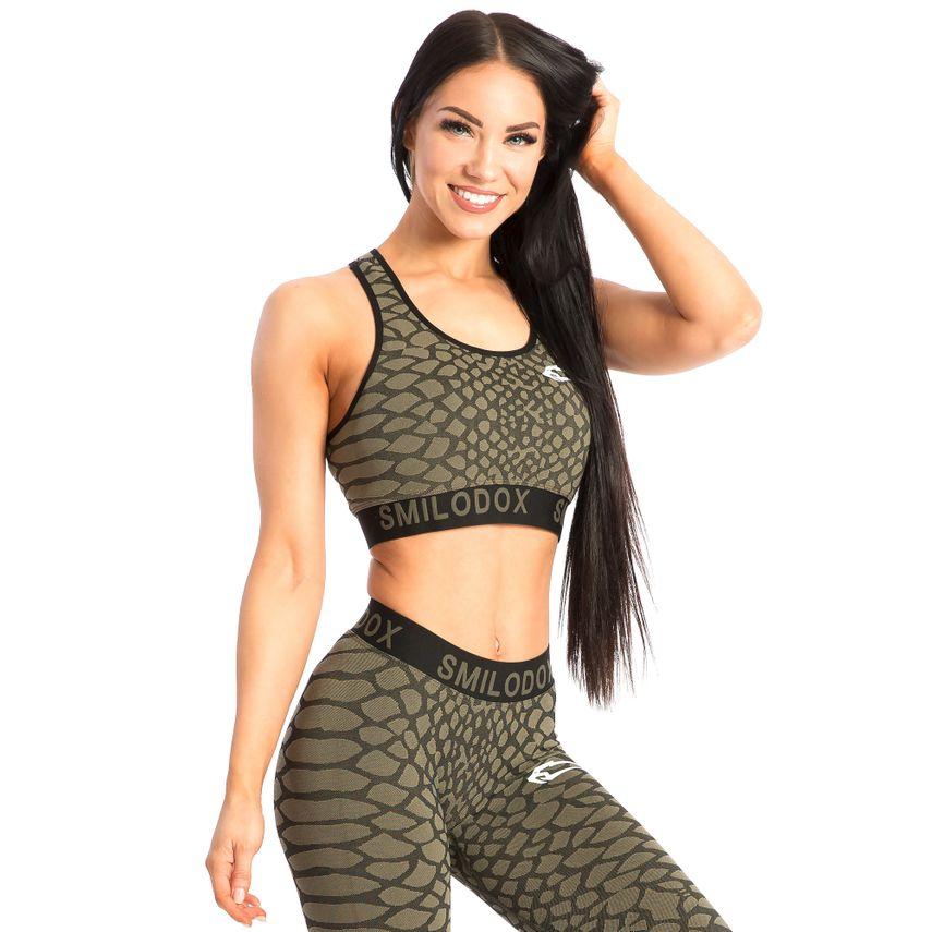 SMILODOX Sport BH Damen Sport Fitness Gym Freizeit Yoga Training Jogging – Bild 1