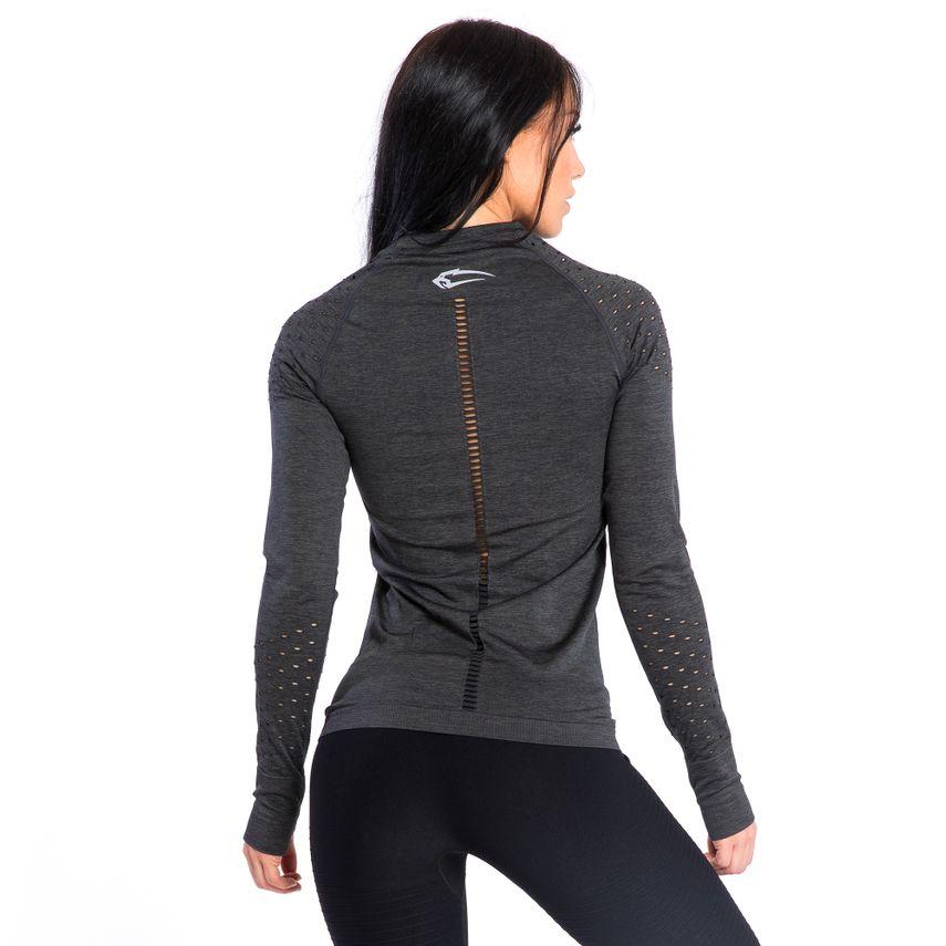 SMILODOX  Slim Fit Longsleeve Ladies Sports Fitness Gym Training Long Sleeve Shirt – Bild 5