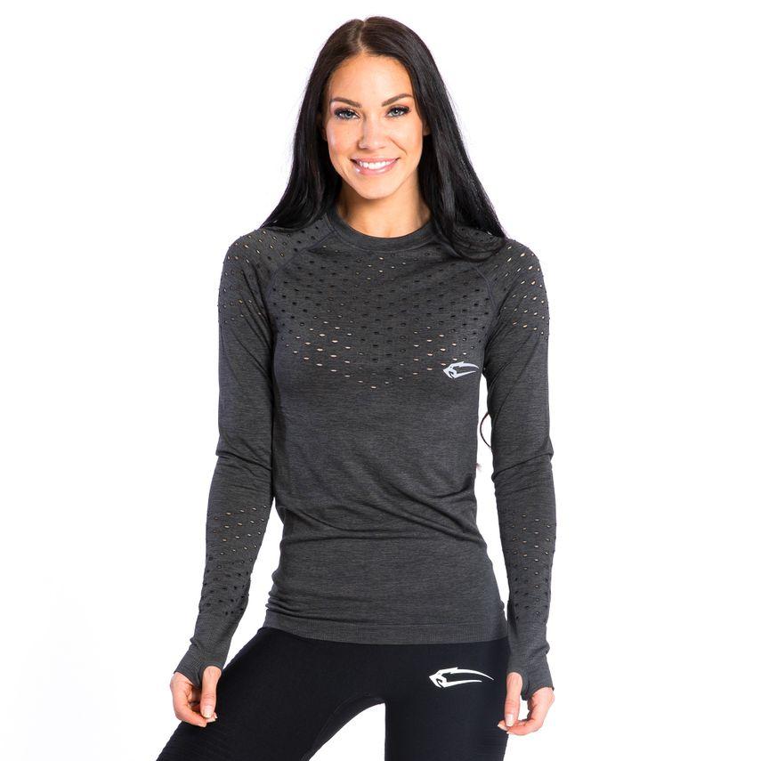SMILODOX  Slim Fit Longsleeve Ladies Sports Fitness Gym Training Long Sleeve Shirt – Bild 3
