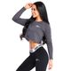 SMILODOX Slim Fit Longsleeve Damen Sport Fitness Gym Training Langarmshirt – Bild 9