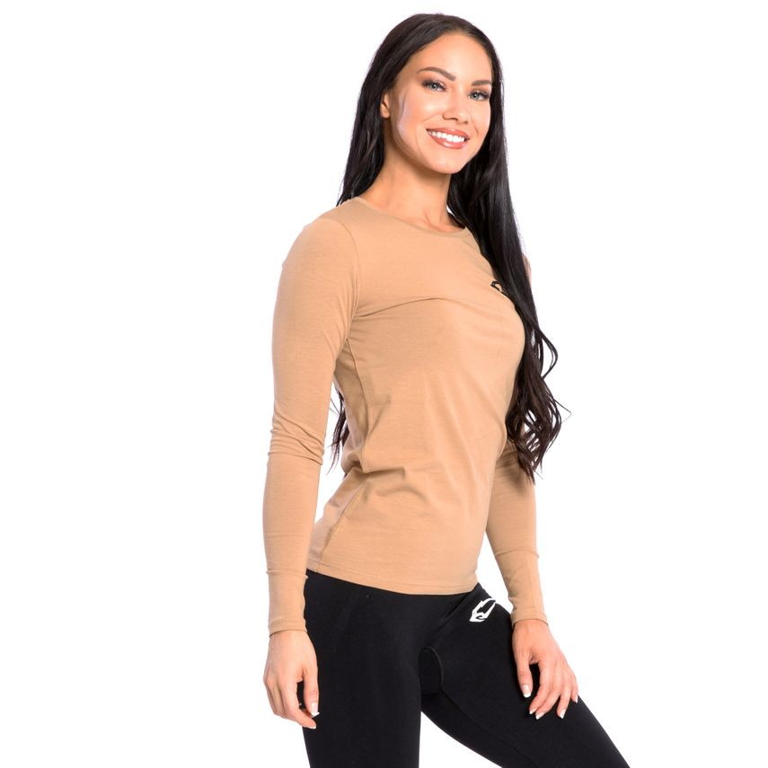 SMILODOX Damen Longsleeve Cut Out – Bild 6