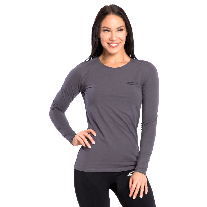 SMILODOX Damen Longsleeve Cut Out – Bild 1