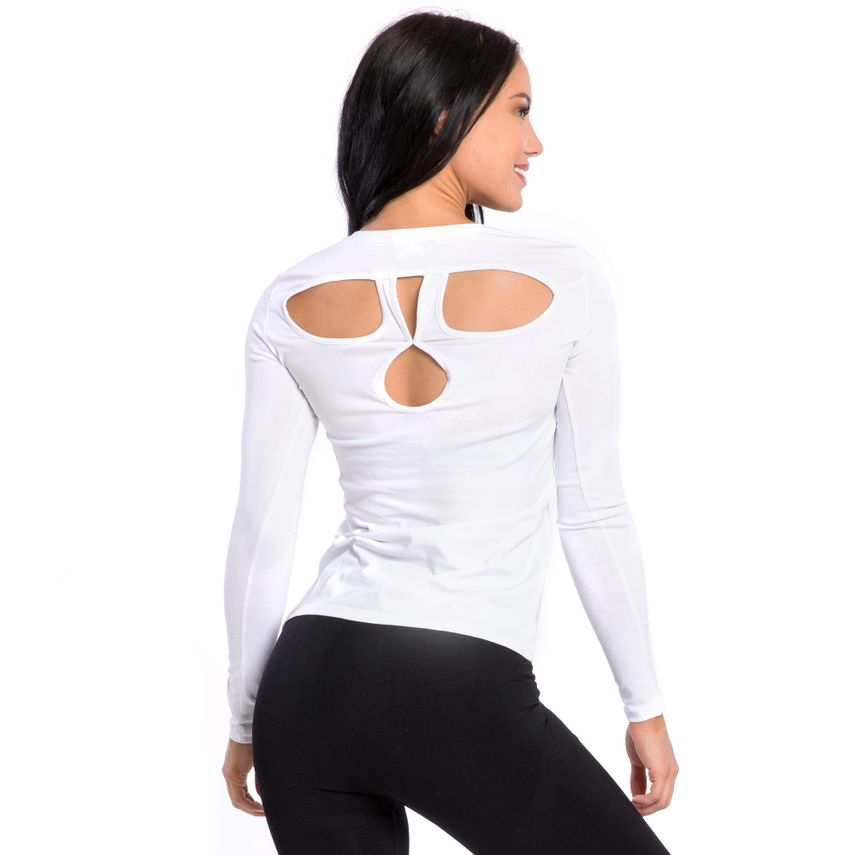 SMILODOX Damen Longsleeve Cut Out – Bild 13