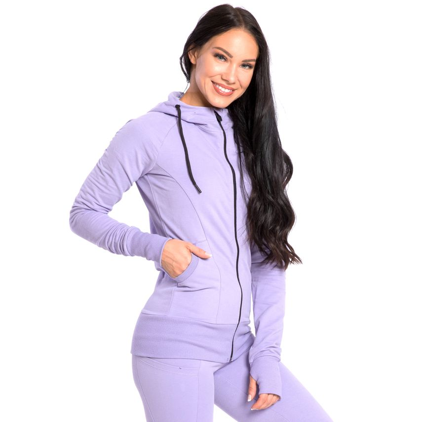 SMILODOX  Zip Hoodie Women Sports Fitness  Gym Leisure Training Hooded Sweater – Bild 25