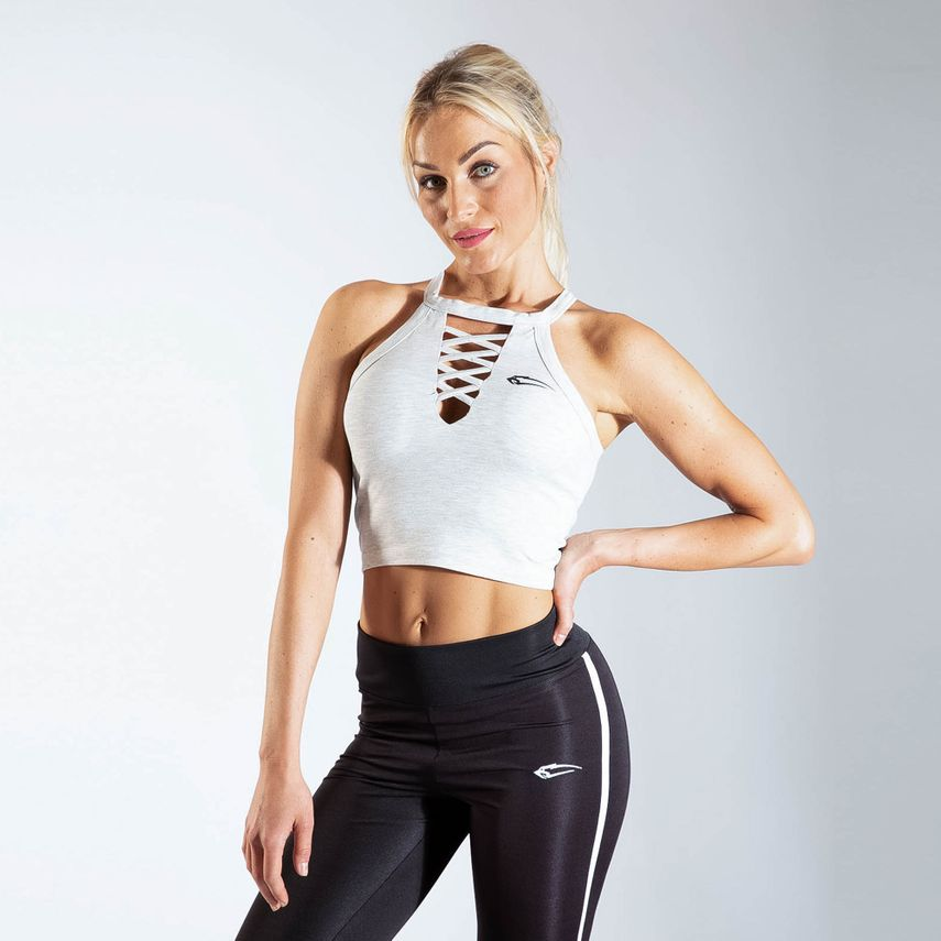 Smilodox Ladies Crop Top CrossOver – Bild 12