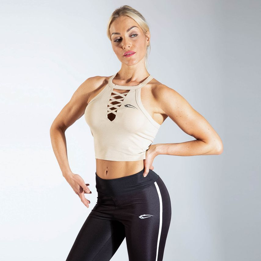 Smilodox Ladies Crop Top CrossOver – Bild 5