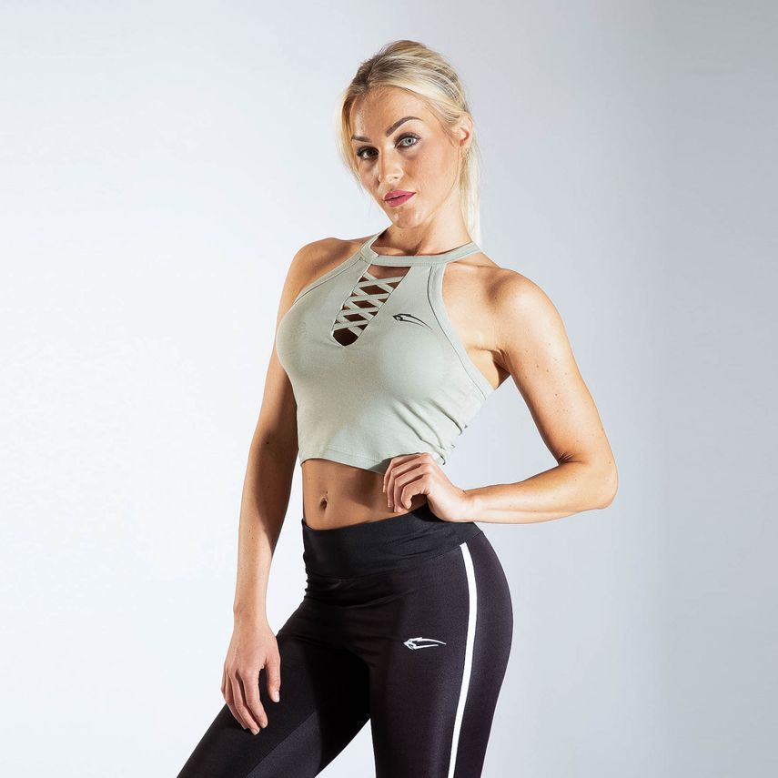 Smilodox Ladies Crop Top CrossOver – Bild 8