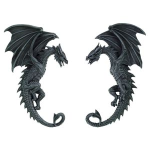 2er Set Wandrelief 2 Drachen rechts/links