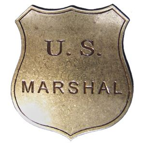 Sheriffstern US-Marshall Badge messing 1789 Edmund Randolph