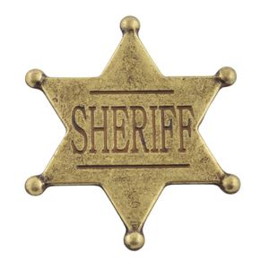 Sheriffstern US messing