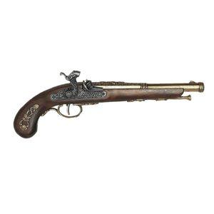 Messingfarbene französische Deko Perkussions Pistole 1832