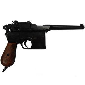 Deutsche Deko Selbstladepistole Mauser C96 mit Holzgriffschalen – Bild 1