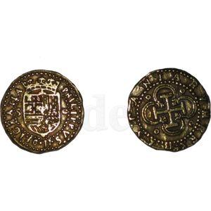 Lederbeutel Pirat für Münzen inkl. 8 spanische Deko Münzen – Bild 6
