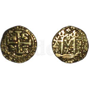 Lederbeutel für Münzen inkl. 8 Münzen – Bild 7