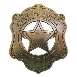 Sheriffstern US-Polizeichef Abzeichen messingfarbend