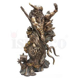Deko Figur Götter & Helden - Wikinger Aegir bronziert – Bild 2