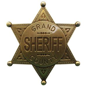 Sheriffstern Grand County messingfarbend