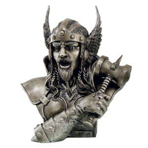 Büste Wikinger Thor Gott des Donners, Sohn Odins bronze