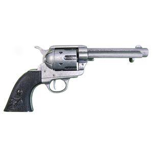 "Grauer 5,5"" Deko 45er Peacemaker Army Colt 1873 schwarze Griffschale"