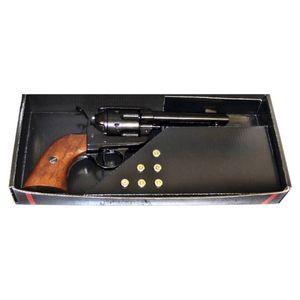 45er Deko Colt Peacemaker 1873 grau mit Deko Patronen in Geschenkverpackung