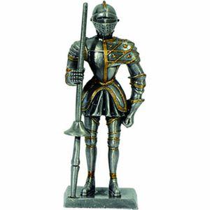 Ritter mit Lanze und Schulterverzierung - Zinnritter (zinn)