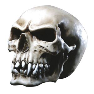 Orc Schädel Totenkopf mit spitzen Zähnen Gothic 16cm