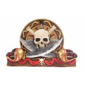 Untersetzer Piratentotenschädel mit Halter – Bild 1
