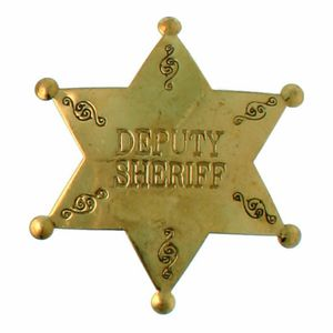 Sheriffstern Deputy Sheriff messing-gold