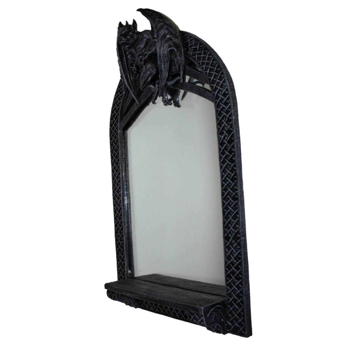 fantasy gargoyle wandspiegel mit ablage fantasy gargoyles. Black Bedroom Furniture Sets. Home Design Ideas