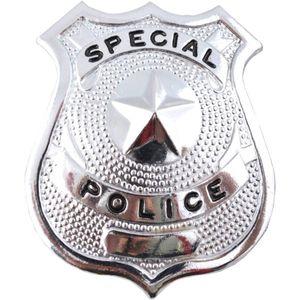Sheriffstern Special Police Metall Stern silberfarbend