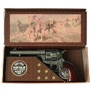 Deko Kavallerie Colt grau Single Action 1873 mit Deko Patronen in Geschenkverpackung – Bild 1