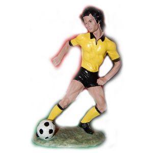 Fußballspieler mit Ball gelb-schwarz 21cm – Bild 1