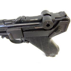 Luger Deko Pistole Marine 04 Kaliber 9mm Parabellum 1904 Kunststoffgriffschale – Bild 2