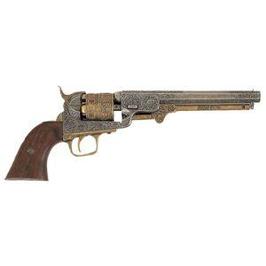 Deko Navy Colt USA 1851 silber-gold graviert – Bild 1